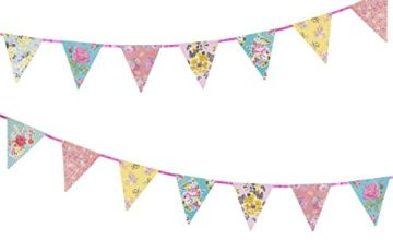 Talking Tables Truly Scrumptious Tea Party Decorations Bunting, Paper, Pastel Colours, Length 4M, 13ft