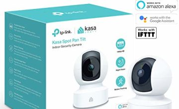 Save on Kasa Smart Security Camera by TP-Link, 360°rotational views, No Hub Required, Works with Alexa(Echo Spot/Show & Fire TV), Google Home/Chromecast and IFTTT, 1080p, 2-Way Audio with Night Vision and more