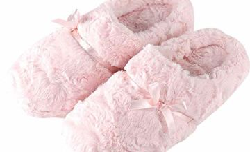 Sisttke Women Faux Fur House Slippers Moccasins Ladies Breathable Indoor Outdoor Comfort Loafer Shoes