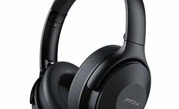 Mpow H17 Noise Cancelling Headphones, [Up to 45Hrs] Bluetooth Headphones Over Ear, Rapid Charge, Hi-Fi Stereo Sound, Soft Protein Ear Pads, Foldable Wireless Headset for Travel Work TV PC Cellphone