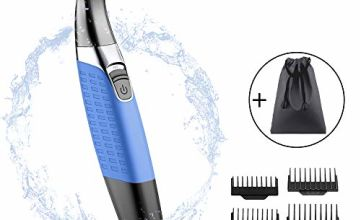 Women Shaver,Micro Precision Eyebrow Electric Trimmer,Face Hair Remover Trimmer Eyebrow Nose Ear and Bikini Area Comb with Men and Women