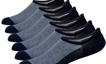 NovForth 6 Pack Mens No Show Socks Mesh Knit Anti-slid Athle