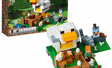 LEGO 21140 Minecraft The Chicken Coop Building Set, Buildable Farm Toy for Kids