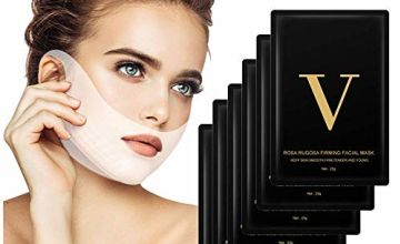 V Face Masks, HailiCare 6 Pcs V Line Mask and Double Chin Reducer, V-shape Face Slimming Mask Face Lifting Mask, Facial Anti-Wrinkle Mask