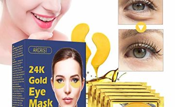 Under Eye Mask, Collagen Eye Mask, 24K Gold Eye Masks, Anti-Aging  Under Eye Treatment Pads, Hydrogel Under Eye Patches For Brightens & Reducing Wrinkles, Dark Circles, Eye Bags and Puffiness/15 Pairs