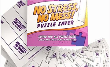 12-Sheet Peel & Stick Jigsaw Puzzle Saver: Preserve and Hang Your Jigsaw Masterpiece Without Hassle - Easily Frame Most Boards With a Stronger Adhesive That Lasts - New and Improved Version