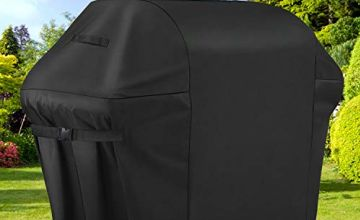 Sotor bbq cover, 600D barbecue cover 60 inch waterproof-2 3 4 burner BBQ Grill Cover Double Layers Oxford Fabric with PVC Coating, Anti-UV Rip-Proof Outdoor gas bbq cover Fits Weber Char Broil