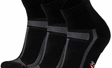 DANISH ENDURANCE Running Socks for Long Distances 3 Pack, for Men & Women, Anti-Blister, Arch Support, Trainer, Sweat Wicking, Breathable