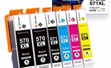 GPC Image 6 Pack PGI-570XL CLI-571XL Compatible Ink Cartridges for Canon 570XL 571XL for Canon PIXMA MG5700 MG5750 MG5751 MG6850 MG6851 TS5050 TS5051 TS6050 (2 PGBK,1 Black,1 Cyan,1 Magenta,1 Yellow)