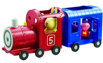 Peppa Pig 06152 Miss Rabbits Train and Carriage Toy, Multi