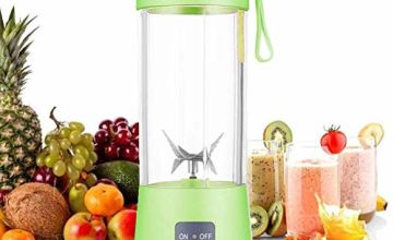 Personal Blender, Portable Juicer Cup/Electric Fruit Mixer/USB Juice Blender, Rechargeable, Six Blades in 3D for Superb Mixing, 380mL