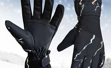 Voneta Winter Gloves, Waterproof Ski Gloves Anti Slip Cold W