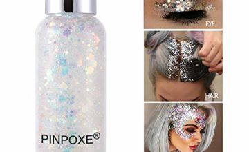 Face Glitter, Body Glitter, Cosmetic Glitter, Glitter Festival Cosmetic Glitter Body Glitter Sparkling Decoration Glitter for for Body, Cheeks and Hair, Nail, Festival and Party Beauty Makeup