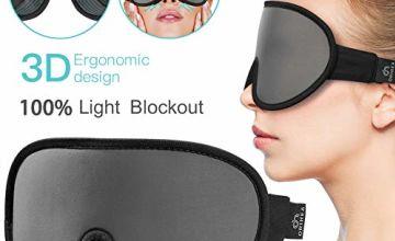 Sleep Mask,Sleeping Mask for Women Men,OriHea 3D Eye Mask for Sleeping with Breathable & Super Soft Memory Foam,100% Lights Blockout Eye Shade Cover,Adjustable Strap Blindfold Mask for Travel/Yoga
