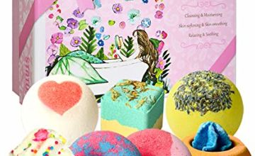 7 Natural Bath Bombs, STNTUS Handmade Bath Bombs for Women, Spa Bubble Fizzies, Luxurious Gift for Women Girls Kids, Beauty Gifts Set for Her on Christmas Valentines Birthday Mothers Day Anniversary