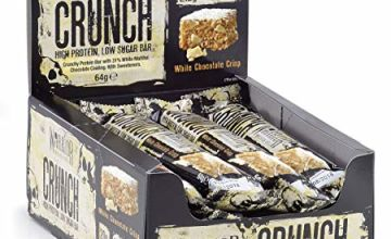 Save on Warrior Crunch Protein Bar - High Protein Snack - White Chocolate - 12x64g Bars and more