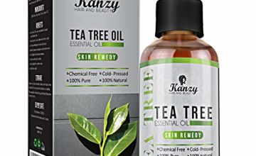 Kanzy Essential Tea Tree Oil Treatment for Face, Hair, Nail, Acne & Blemishes Natural VEGAN - 60ML