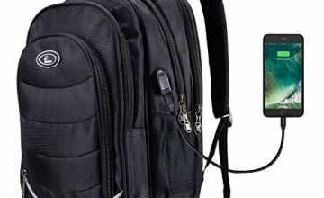 Laptop Backpack, Business Travel 15.6-Inch Rucksack with USB