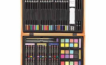 Darice Professional Art Set, Wood, Multi-Colour, 80-Piece Deluxe