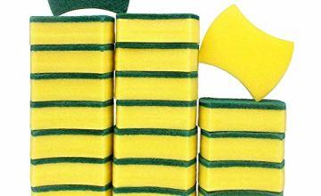 Esafio 24 Pcs Heavy Duty Scrub Kitchen Sponges , Non-Scratch Cellulose Cleaning Sponges,Multi-Purpose Scourer Pads for Pan Garage Bathroom