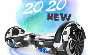 Hoverboard, 6.5 inch Self Balancing Scooter Hoverboard with Bluetooth Speaker Hoverboards for Kids Age 8-12 Segway Colorful Flashed Best gifts for kids Boys Girls Gifts Hoverboard go Kart