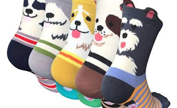 5 Pairs Womens Animal Socks Cute Funny Cotton Ladies Socks for Winter, One Size, Style 02
