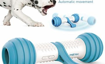 Interactive Play Bone from PetTec | Dog Toy | Battery-operated for dogs, cats & puppies | bite-resistant & robust with automatic control (Play Bone)
