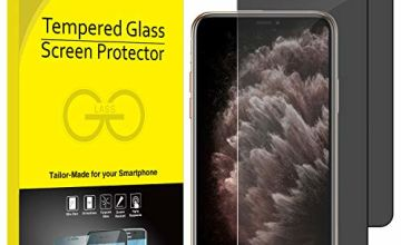 JETech Privacy Screen Protector for iPhone 11 Pro Max and iPhone Xs Max 6.5-Inch, Anti Spy Tempered Glass Film, 2-Pack