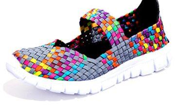 Blivener Women Woven Light Weight Elastic Trainer Comfort Slip On Sport Water Shoes