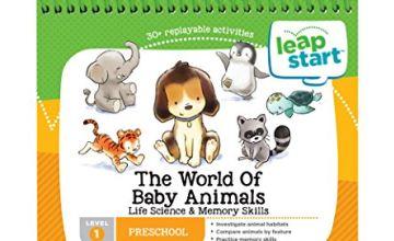Vtech Leapfrog LeapStart Level 1 Preschool The World of Baby Animals Life Science & Memory Skills