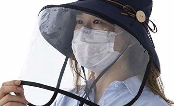 Comhats UPF 50 Sun Hat Women Wide Brim Foldable Cotton UV Bucket Sunhat with Chin Strap Size Adjustable