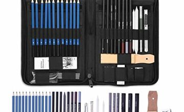 Professional Sketching & Drawing Art Set – Complete with Portable Pop-Up Zipper Case - Drawing and Sketch Kit with Pencils, Erasers, Kit Bag - Art Supplies, Drawing Pencils, Graphite Pencils, Sketching Supplie