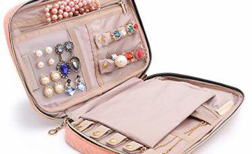 bagsmart Travel Jewellery Organiser Case Portable Jewelry Ba