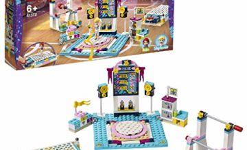 LEGO 41372 Friends Stephanie's Gymnastics Show Playset with 3 Sport Disciplines Accessories, Stephanie and Mia Mini Dolls