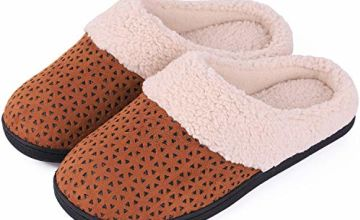 EverFoams Ladies' Comfort Micro Suede Memory Foam Slippers A