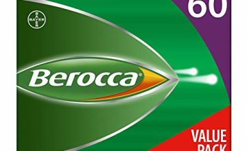 Berocca Energy Vitamin Tablets Blackcurrant Flavour, 2 Months Supply, Total 60 Tablets (Pack of 4)