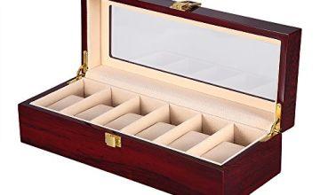 Watch Display Storage Box Jewelry Collection Case Organiser Holder Wooden