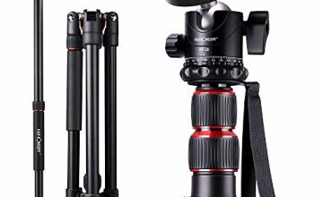 """Camera Tripod 79""""/200cm, K&F Concept DSLR Tripods Aluminum Travel Vlog Tripod Monopod with 360° Panorama Ball Head 1/4"""" Quick Release Plate Carrying Case Loading Up to 17.6lbs/8kg for Canon Nikon Sony"""