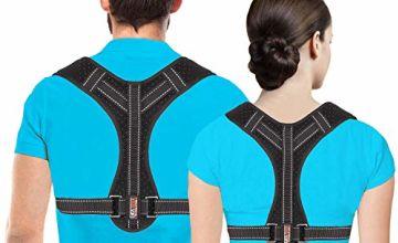 Posture Corrector for Men and Women, Upper Back Brace for Clavicle Support, Adjustable Back Straightener and Providing Pain Relief from Neck, Back & Shoulder, (Universal) (Regular)