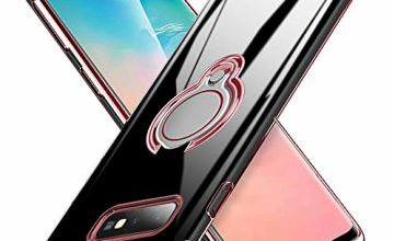 ATUSIDUN Slim-Fit Case for Samsung Galaxy Sockproof Anti-scratch 360 Degree Raotation Metal Ring Holder Car Magnetic Mount Soft Flexible TPU Bumper Case Cover