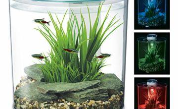 15% off Marina 360 Aquarium with Remote Control LED Lighting, Multi-colour, 10 Litre
