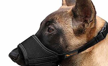 HEELE Dog Muzzle Nylon Soft Muzzle to Prevent Biting Barking Secure, Mesh Breathable Dog Muzzles with Adjustable Loop Pets Mouth Cover for Small Medium Large Dogs 4 Colors 4 Sizes