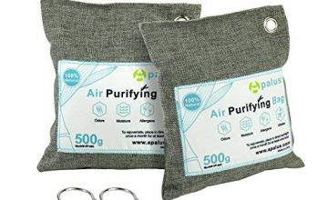 Apalus Air Purifying Bag Odor Eliminator for Cars | Closets | Bathrooms and Pet Areas,100% Chemical Free & Natural Bamboo Activated Charcoal Air Freshener, Dehumidifier Bags (200G x 2 Pack)