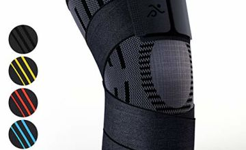 Knee Support Compression Sleeve Brace - Best for Meniscus Tear, Arthritis, Quick Recovery, etc. - Ideal for Running, Crossfit, Basketball, Baseball and Other Sports - Single Wrap