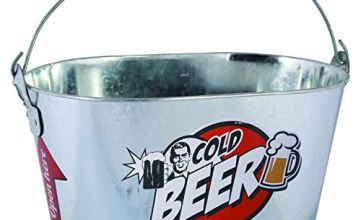 Out of the blue KG Oval Metal Beer Ice Cube Bucket, Aluminium, Silver, 26 x 13 x 4 cm