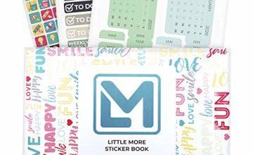 Little More Happy Planner Stickers – 1650+ Productivity Stickers for Your Monthly, Weekly & Daily Organizer Planner and Journal - Calendar Reminder Stickers 2020-2021
