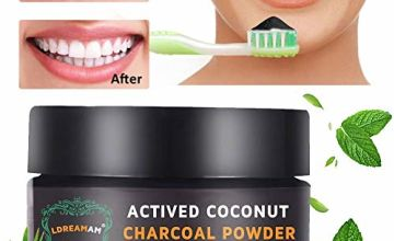 Teeth Whitening Powder,Activated Charcoal Teeth Whitening Powder Toothpaste, Safe and Natural Tooth Whitener for Teeth Stain Removal