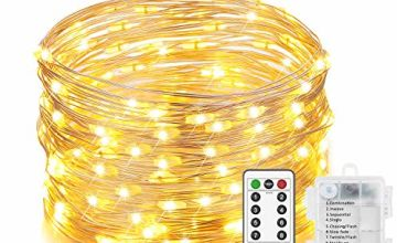 2 Sets Fairy Lights, Battery Operated String Lights with Remote Timer 16.4ft Twinkle Starry Lights 8 Modes 66 LED Lights Firefly Lights for Bedroom Indoor Garden Wedding Party Decor,Cool White?