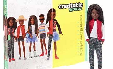 CREATABLE WORLD GGG55 Deluxe Character Kit Customisable Doll, Creative Play for All Kids 6 Years Old and Up, Black Braided Hair