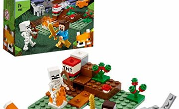 LEGO 21162 Minecraft The Taiga Adventure Building Set with Steve, Wolf and Fox Figures, Toys for Kids for 7+ Years Old